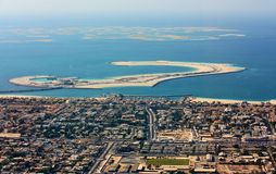 Aerial view of Dubai city Stock Photography