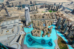 Aerial view of Dubai downtown Royalty Free Stock Photos