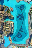 Aerial view of Dubai fountains Stock Images