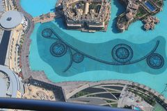 Aerial view of Dubai Stock Photo