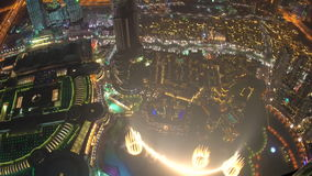 Aerial view of Dubai Mall and fountains, stock footage
