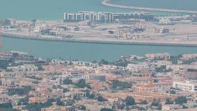 Aerial view of Dubai man made Daria Island, Dubai, United Arab Emirates stock video