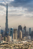 Aerial view of Dubai skyline Royalty Free Stock Photos