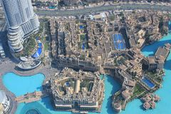 Aerial view of Dubai Royalty Free Stock Images