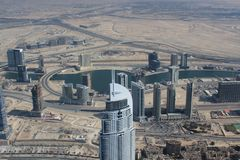 Aerial view of Dubai Stock Photography