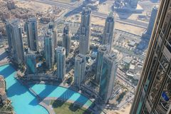 Aerial view of Dubai Royalty Free Stock Photo