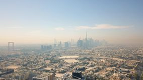 Aerial view of Dubai. On sunny day stock video