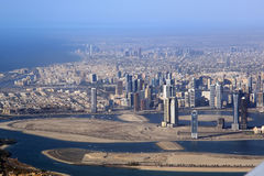 Aerial view. Dubai Royalty Free Stock Photo