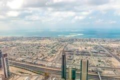 Aerial view of Dubai (United Arab Emirates) Stock Images