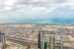 Aerial view of Dubai (United Arab Emirates) Royalty Free Stock Photo