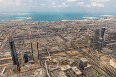 Aerial view of Dubai (United Arab Emirates) Royalty Free Stock Photography