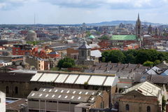 Aerial view of Dublin Royalty Free Stock Photography