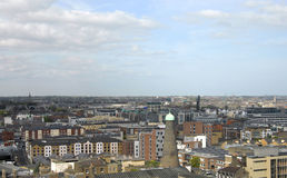 Aerial view on Dublin Royalty Free Stock Photo