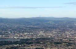 Aerial view of Dublin, Ireland Stock Photo