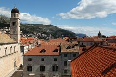 Aerial View of Dubrovnic Stock Images