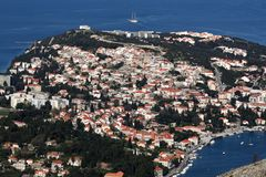 Aerial View of Dubrovnic Stock Photography