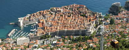 Aerial view of  Dubrovnik Stock Photo