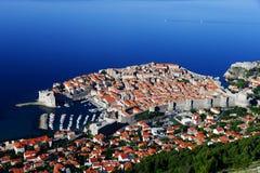 Aerial view of Dubrovnik, Croatia Royalty Free Stock Image