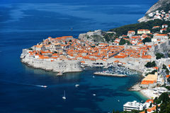 Aerial view of Dubrovnik, Croatia Royalty Free Stock Photography