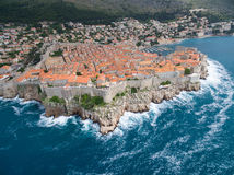 Aerial view of Dubrovnik, Croatia. Royalty Free Stock Image