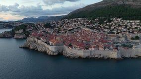 Aerial view of Dubrovnik, Croatia. Old Town. stock video