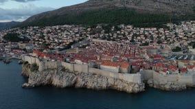 Aerial view of Dubrovnik, Croatia. Old Town. stock footage