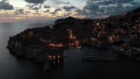 Aerial view of Dubrovnik, Croatia. Old Town. stock video footage