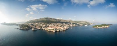 Aerial view of Dubrovnik, Croatia Stock Photography