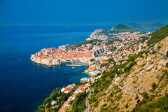 Aerial view of Dubrovnik Stock Image