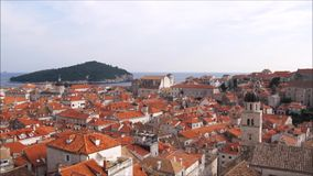 Aerial view of Dubrovnik stock video footage