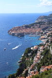 Aerial view of Dubrovnik. Royalty Free Stock Images