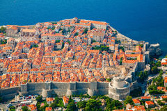 Aerial view of Dubrovnik medieval Old town Royalty Free Stock Photo