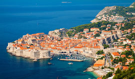 Aerial view of Dubrovnik Old town royalty free stock images