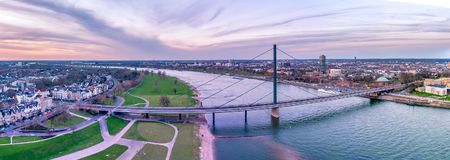 Aerial View of Duesseldorf in Germany - Europe.  Royalty Free Stock Photo