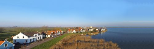 Aerial view on Durgerdam Royalty Free Stock Photo