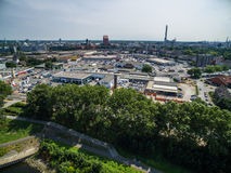 Aerial view of Duisburg Stock Photos
