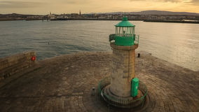 Aerial view. Dun Laoghaire lighthouse. Dublin. Ireland stock image