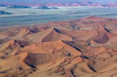 Aerial view dunes of Sossusvlei. Namib-Naukluft National Park. Africa. stock photos