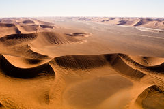 Aerial view of the dunes of sossusvlei. Part of the namib desert, located in namib naukluft park, namibia, africa Stock Photography
