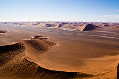 Aerial view of the dunes of sossusvlei. Part of the namib desert, located in namib naukluft park, namibia, africa Royalty Free Stock Photos