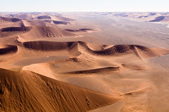 Aerial view of the dunes of sossusvlei. Part of the namib desert, located in namib naukluft park, namibia, africa Stock Photos