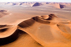 Aerial view of the dunes of sossusvlei. Part of the namib desert, located in namib naukluft park, namibia, africa Royalty Free Stock Image