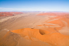 Aerial view of the dunes of sossusvlei. Part of the namib desert, located in namib naukluft park, namibia, africa Stock Photo