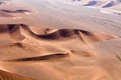 Aerial view of the dunes of sossusvlei. Part of the namib desert, located in namib naukluft park, namibia, africa Stock Images