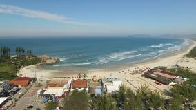 Aerial view Dunes in sunny day - Joaquina beach - Florianopolis - Santa Catarina - Brazil. July, 2017.  stock footage