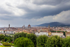 Aerial view of Duomo Cathedral in Florence Italy Royalty Free Stock Images