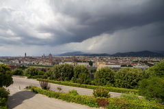 Aerial view of Duomo Cathedral in Florence Italy Royalty Free Stock Photography