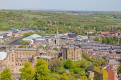 Aerial View of Durham Castle Royalty Free Stock Image