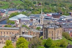 Aerial View of Durham Castle Stock Photos
