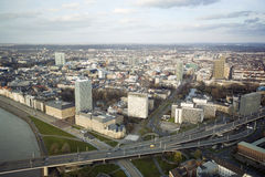 Aerial view of Dusseldorf Royalty Free Stock Image